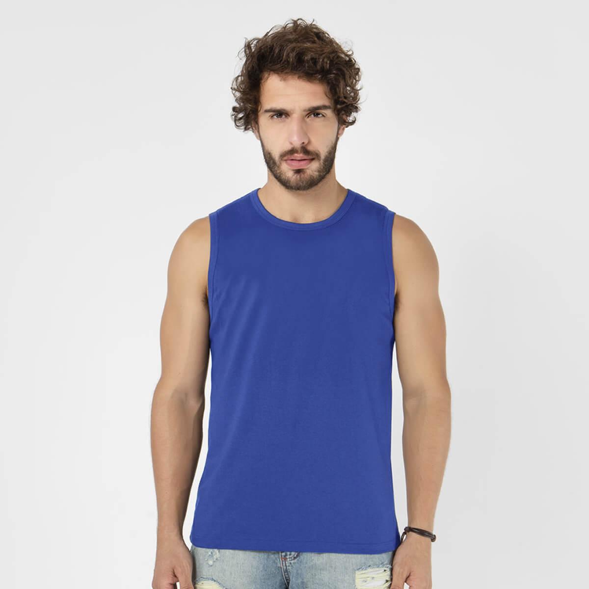 Regata Machão Masculina Básica Sport Azul