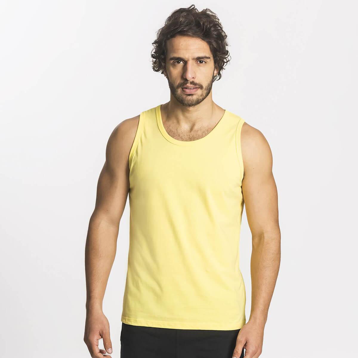 Regata Masculina Básica Premium Amarela