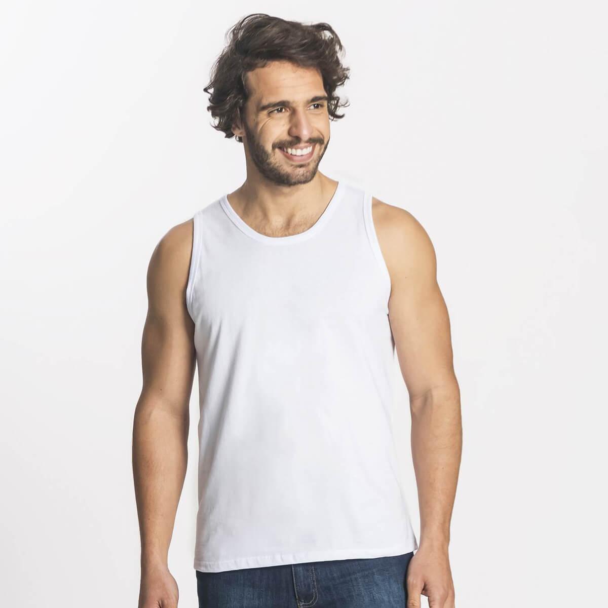 Regata Masculina Básica Premium Branca