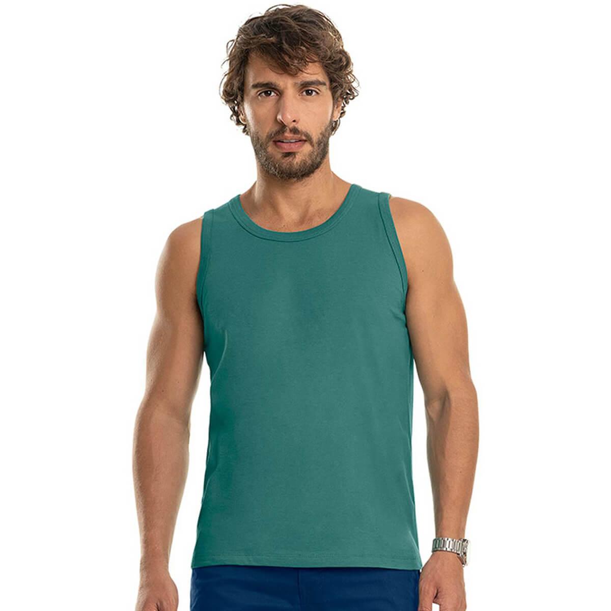 Regata Masculina Básica Premium Verde