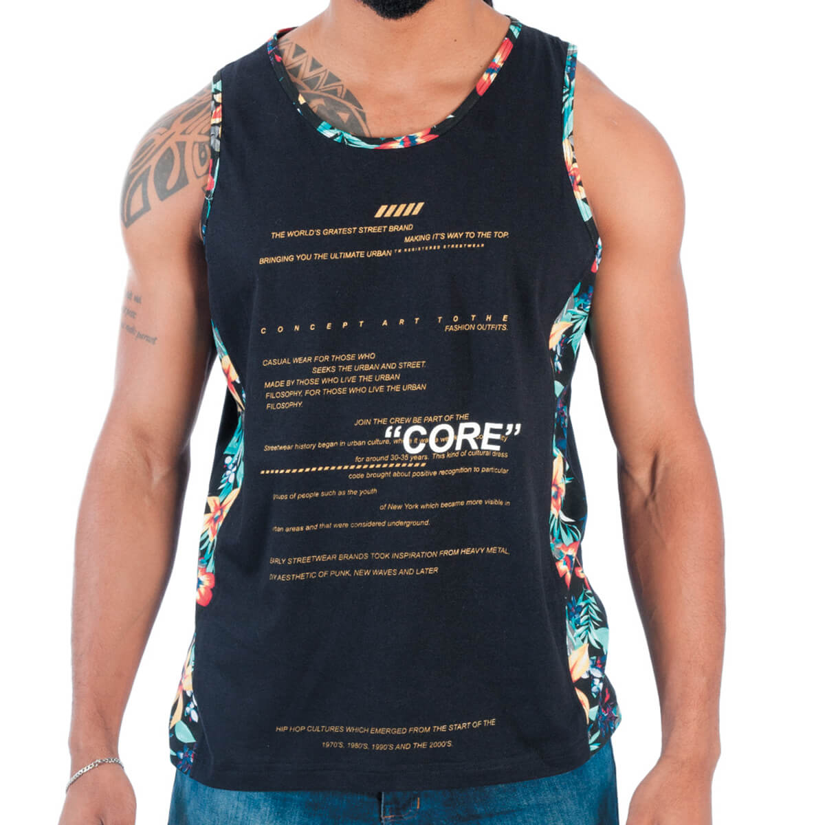 Regata Masculina Estampada Core