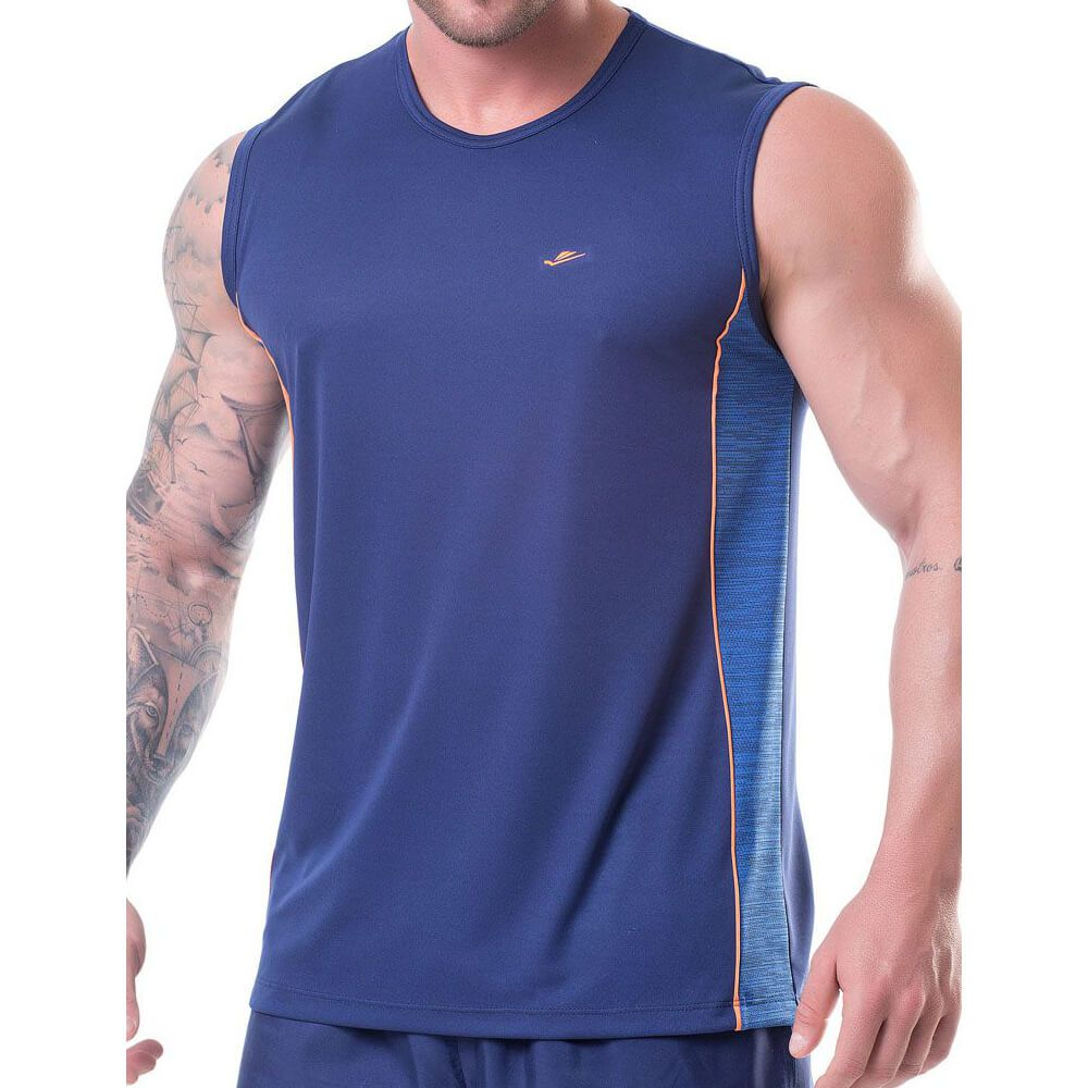 Regata Masculina Sports Dryline Azul