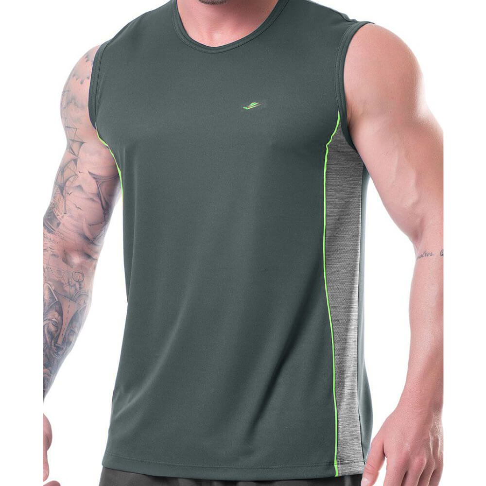 Regata Masculina Sports Dryline Cinza