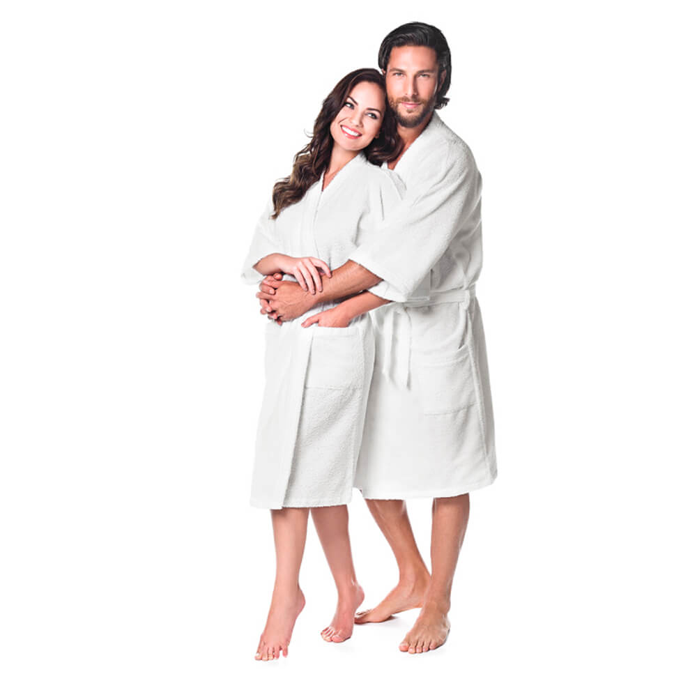 Roupão Adulto Kimono Branco