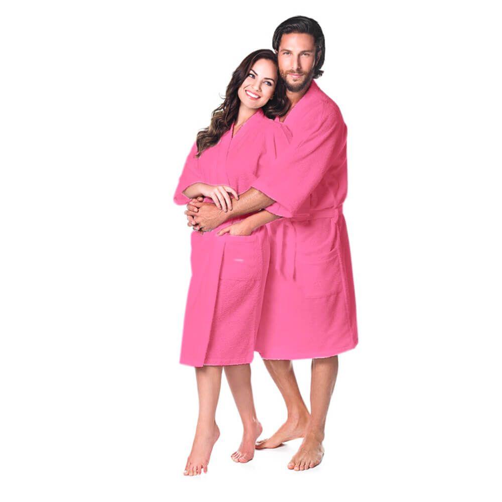 Roupão Adulto Kimono Pink