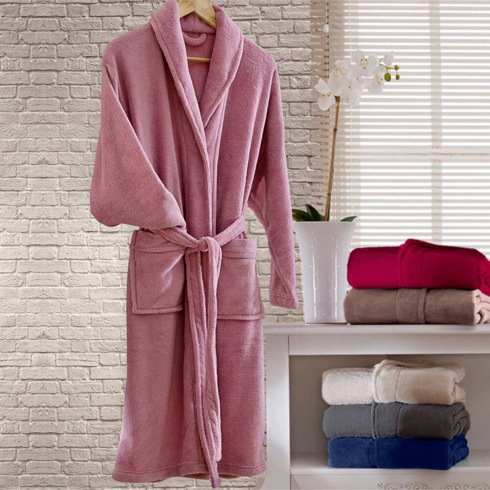 Roupão Adulto Kimono Rosa
