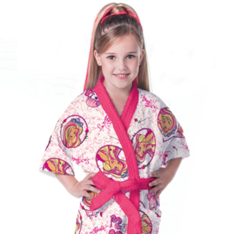 Roupão Infantil Barbie Reinos Mágicos Fepudo
