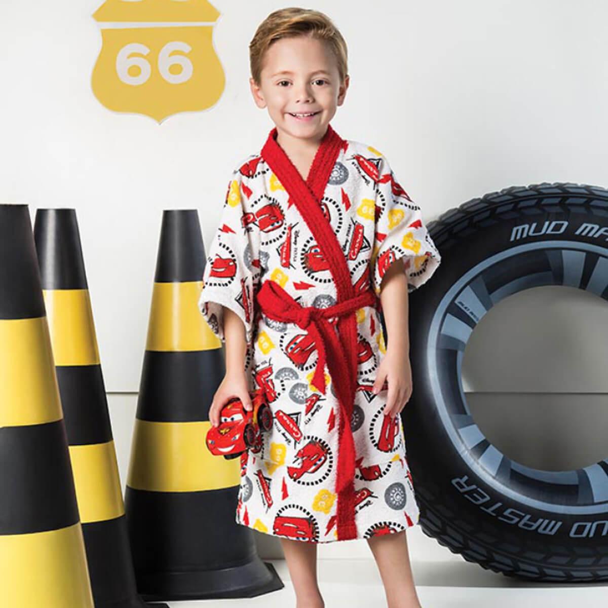 Roupão Infantil Felpudo Carros