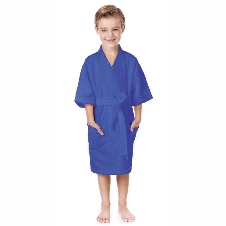 Roupão Infantil Felpudo Azul