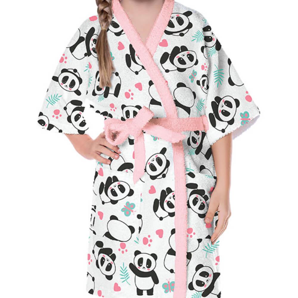 Roupão Infantil Panda