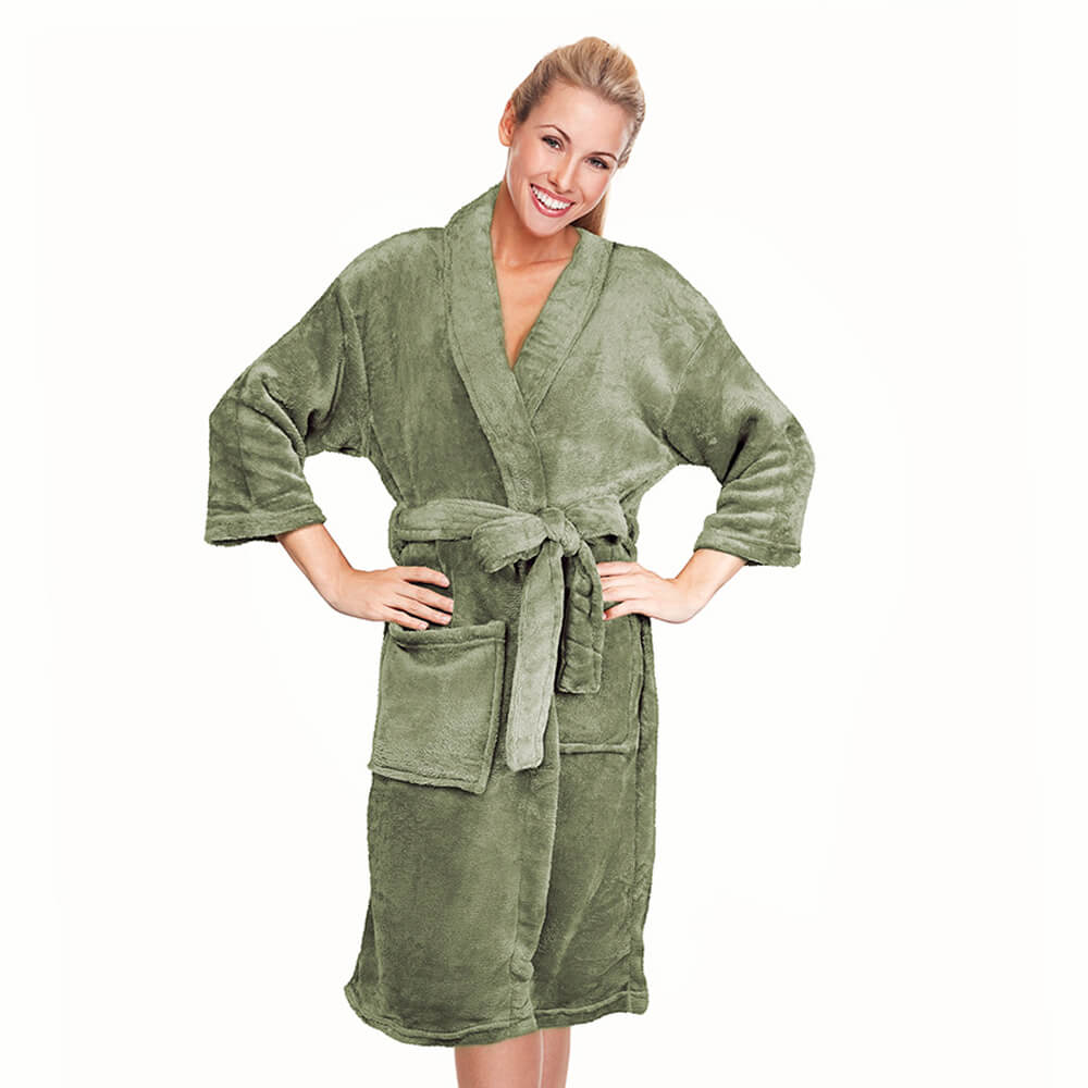 Roupão Kimono Aveludado Verde