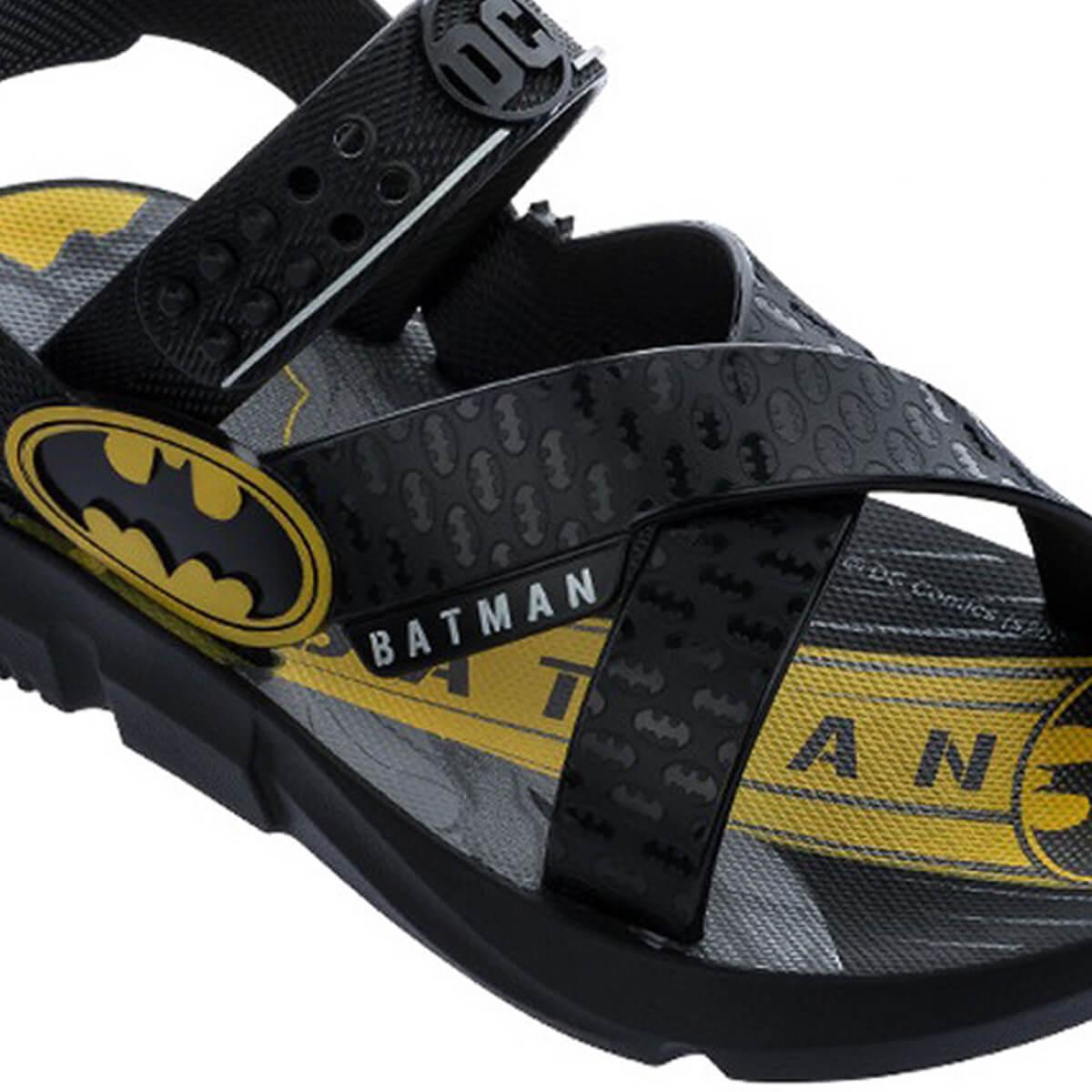 Sandália Infantil Menino Batman Batmóvel
