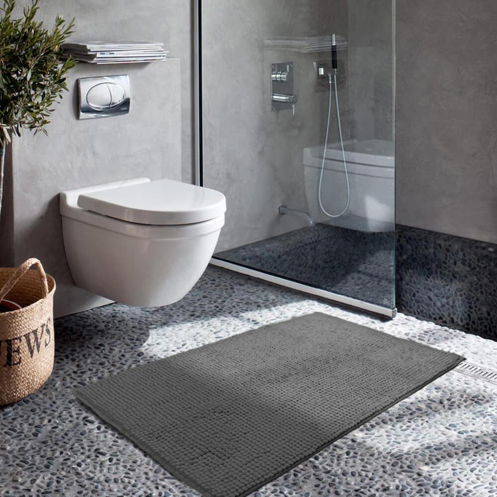 Tapete de Banheiro Dedinho Cinza