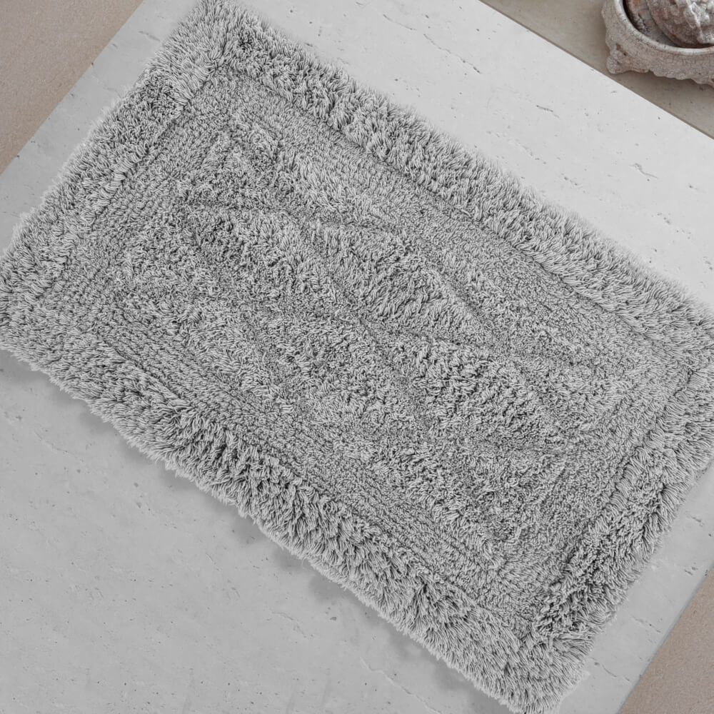 Tapete de Banheiro México Cinza