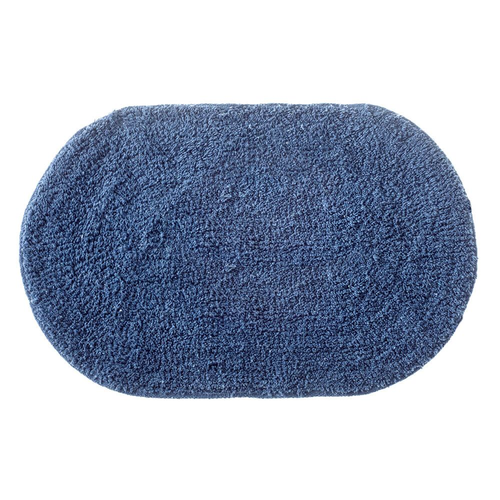 Tapete de Banheiro Oval Victoria Azul