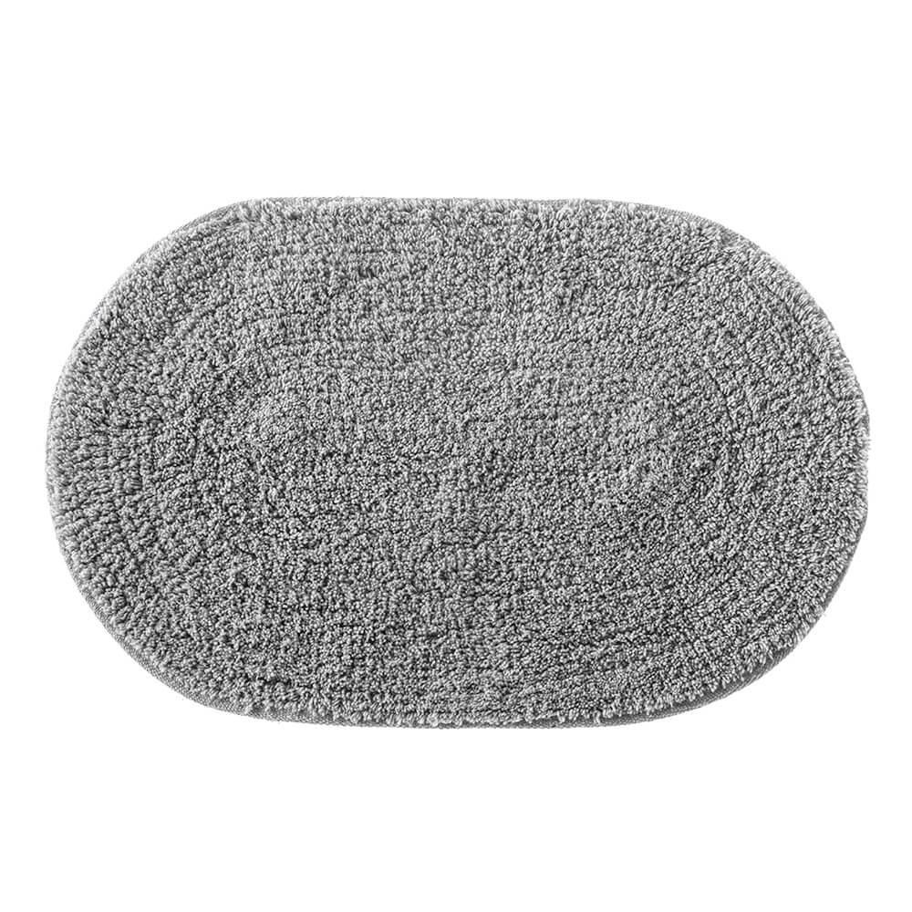 Tapete de Banheiro Oval Victoria Cinza