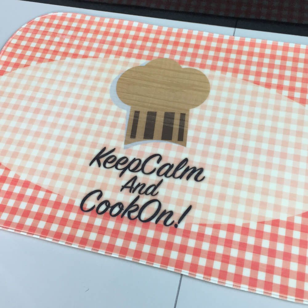 Tapete de Cozinha Transfer Keep Calm and Cook On