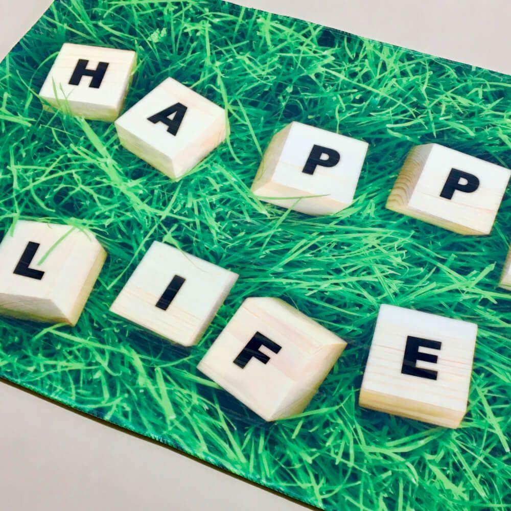 Tapete de Porta Transfer Happy Life