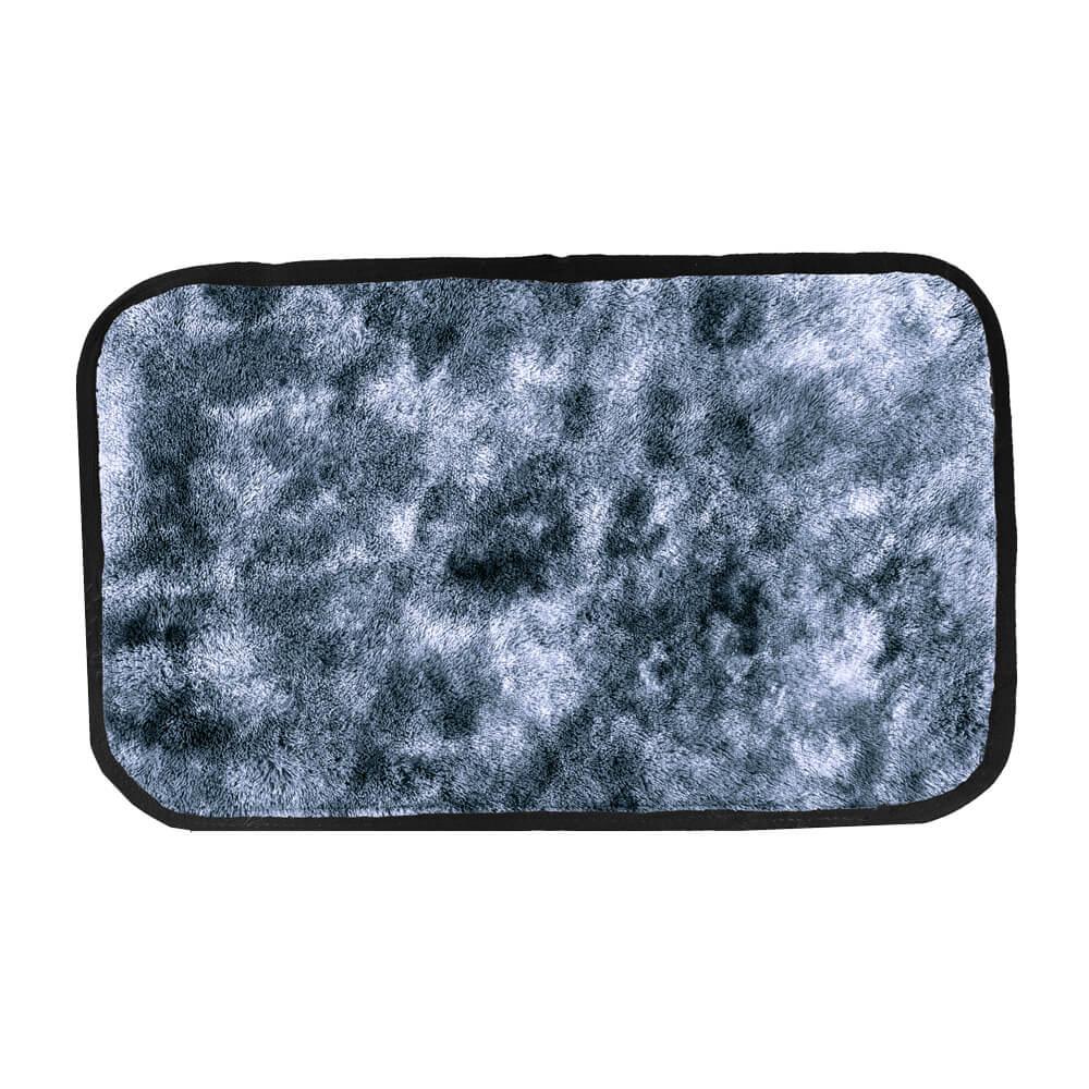 Tapete de Quarto Moscou 40 cm x 60 cm Cinza Mescla