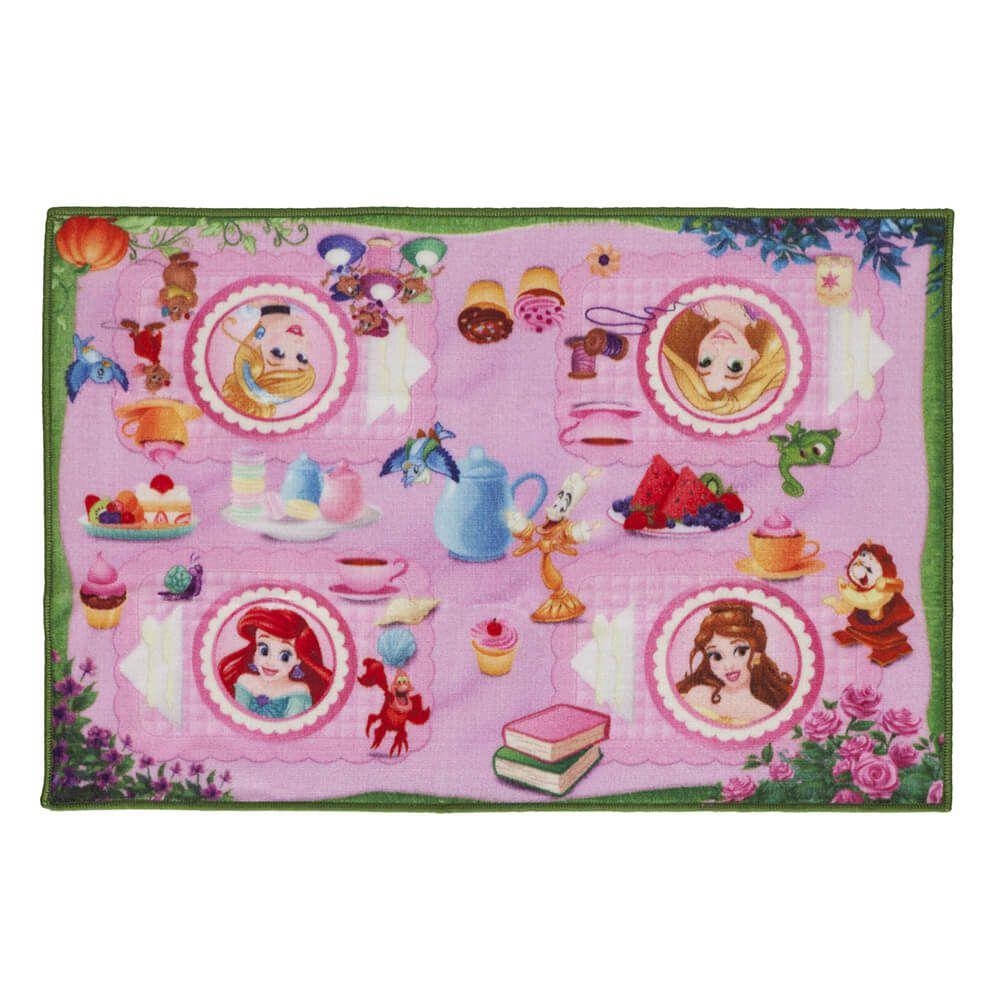 Tapete Infantil de Brincar Princesas Hora do Chá