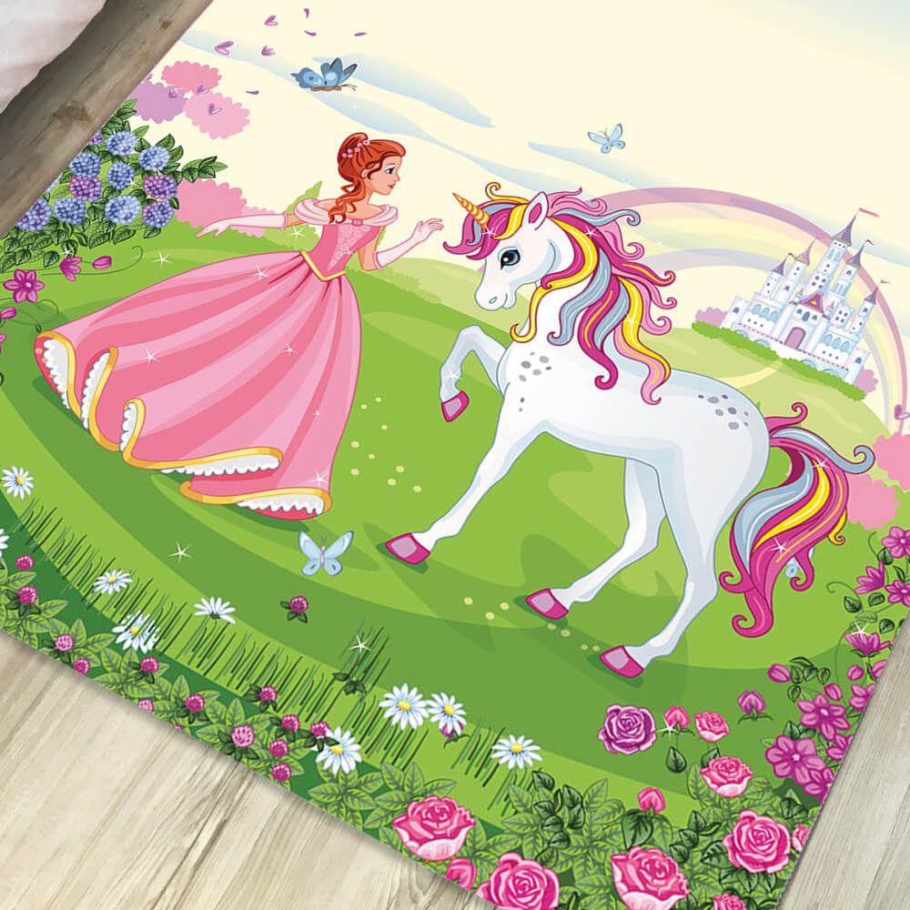 Tapete Infantil de Quarto Princesa