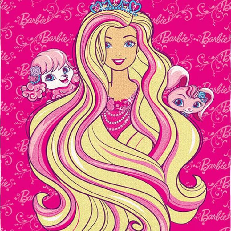 Toalha de Praia Infantil Barbie