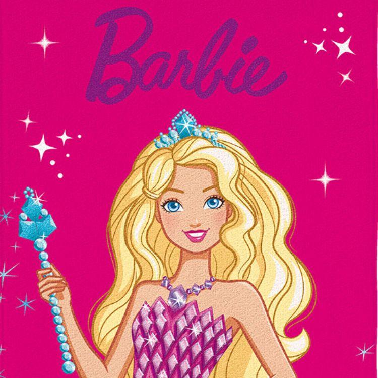 Toalha de Praia Infantil Barbie Princesa