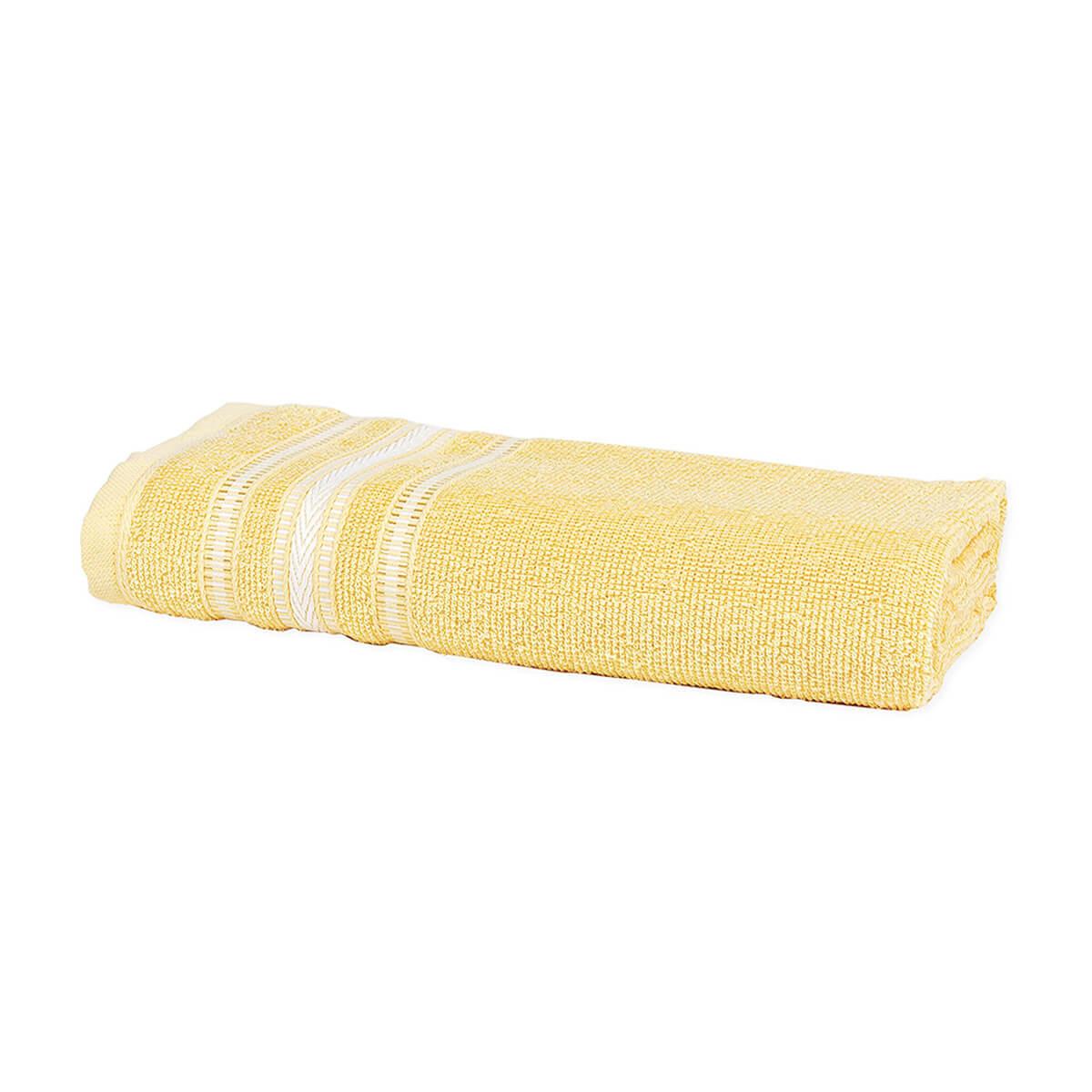 Toalha de Banho Enxuta Aquarela Amarela