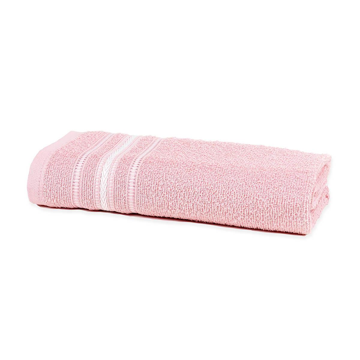 Toalha de Banho Enxuta Aquarela Rosa