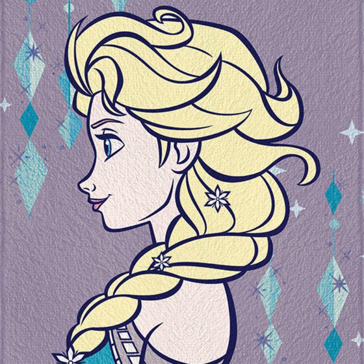 Toalha de Banho Infantil Frozen Elsa Perfil Felpuda