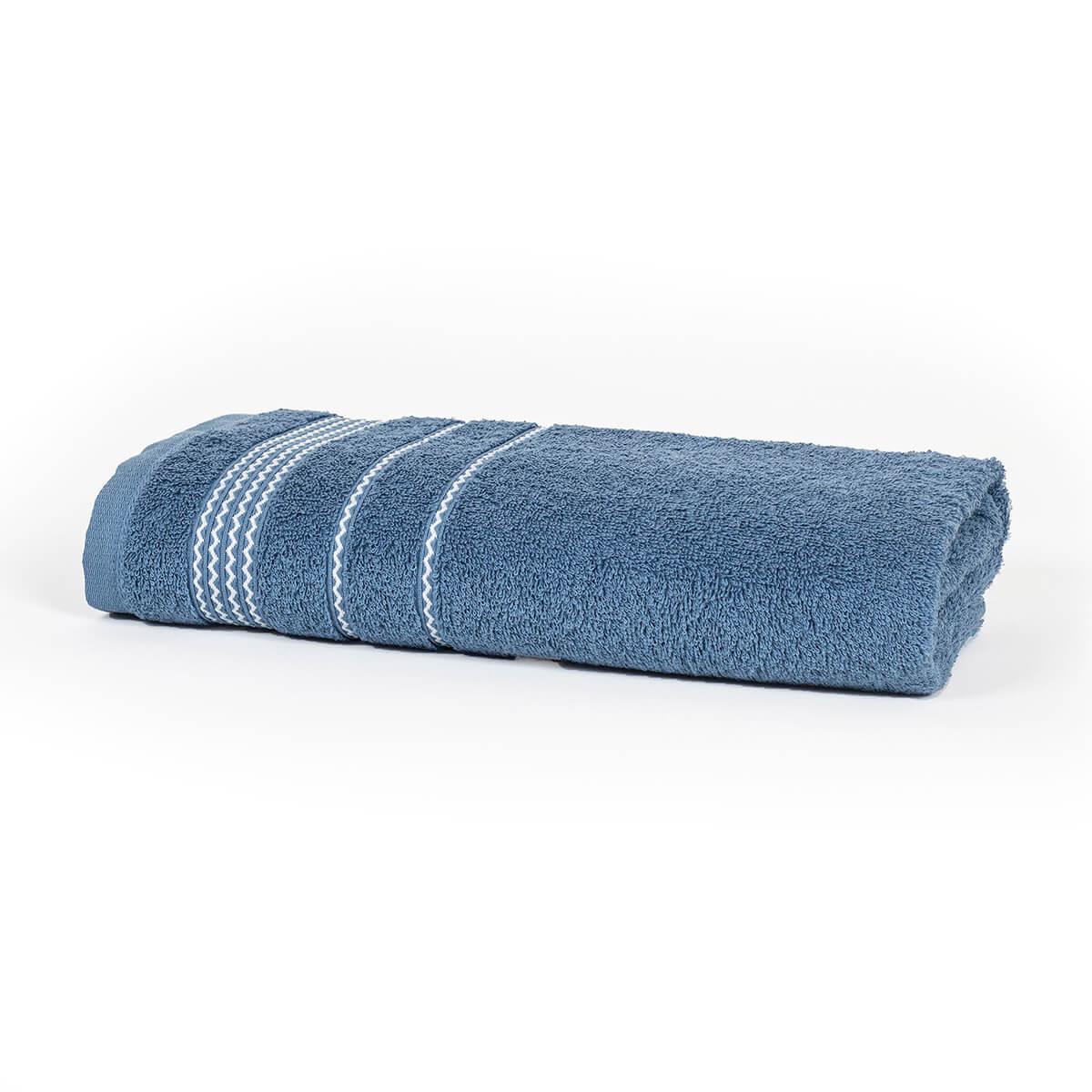 Toalha de Banho Home Design Chevron Azul
