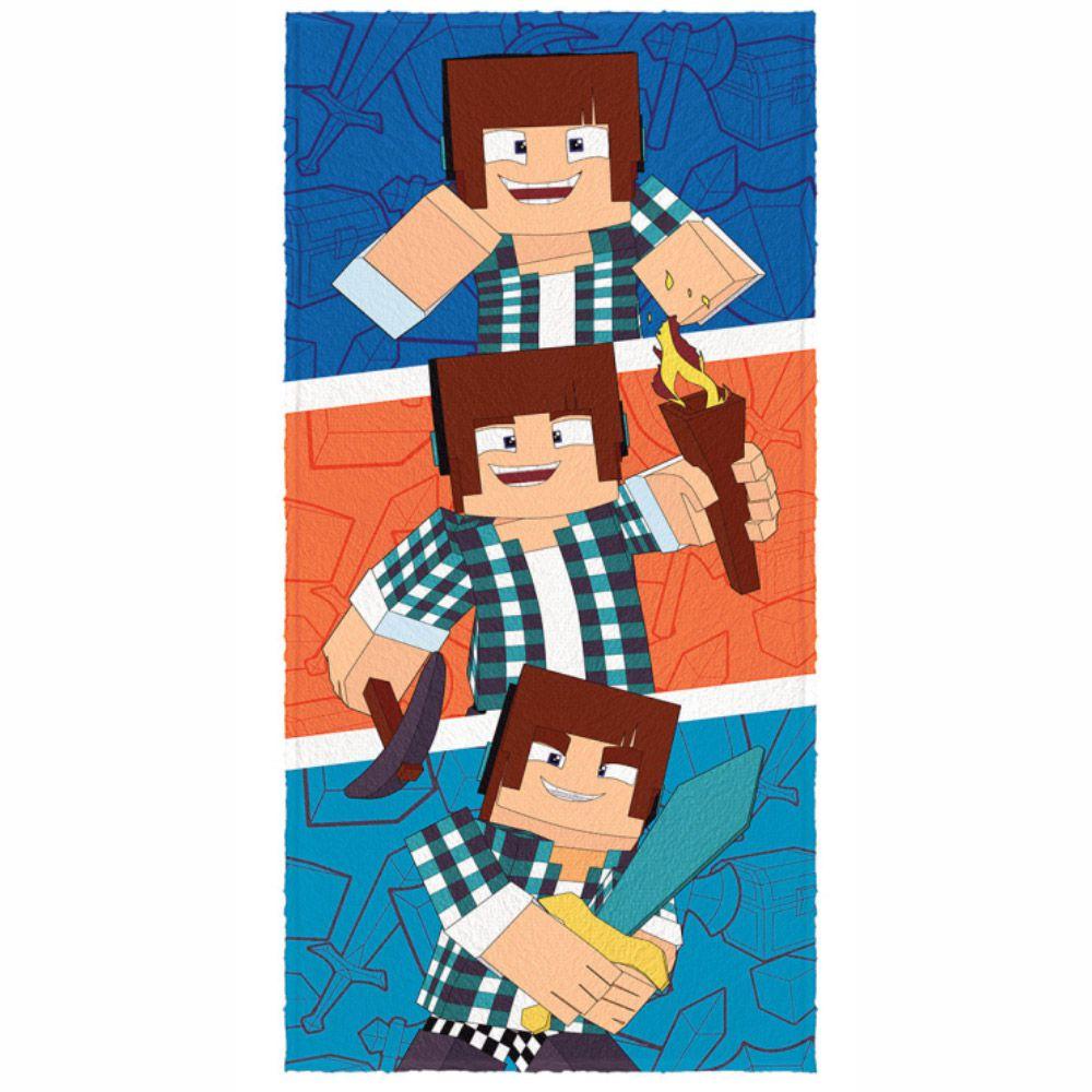 Toalha de Banho Infantil Felpuda Authentic Games Super Trio