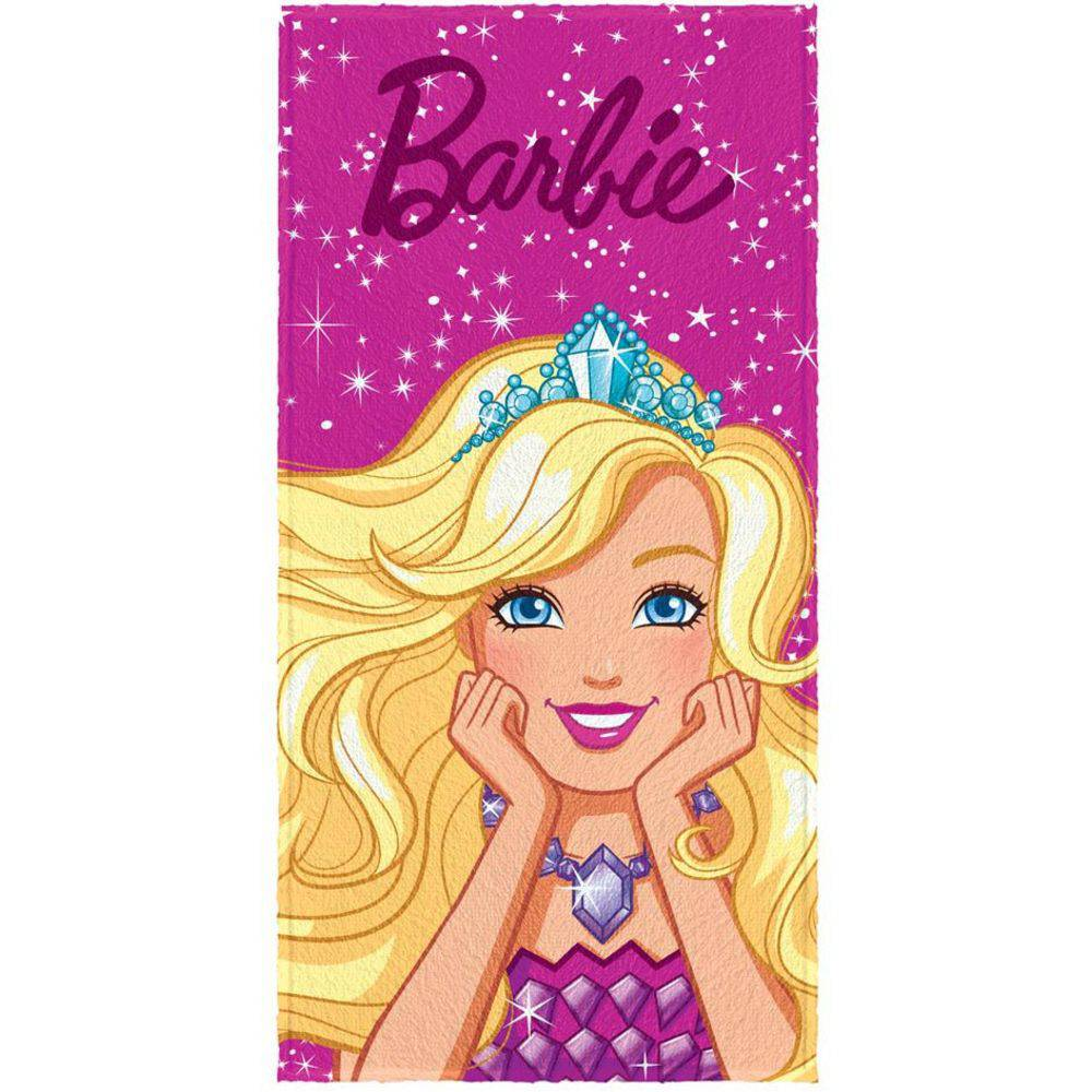 Toalha de Banho Infantil Barbie Close