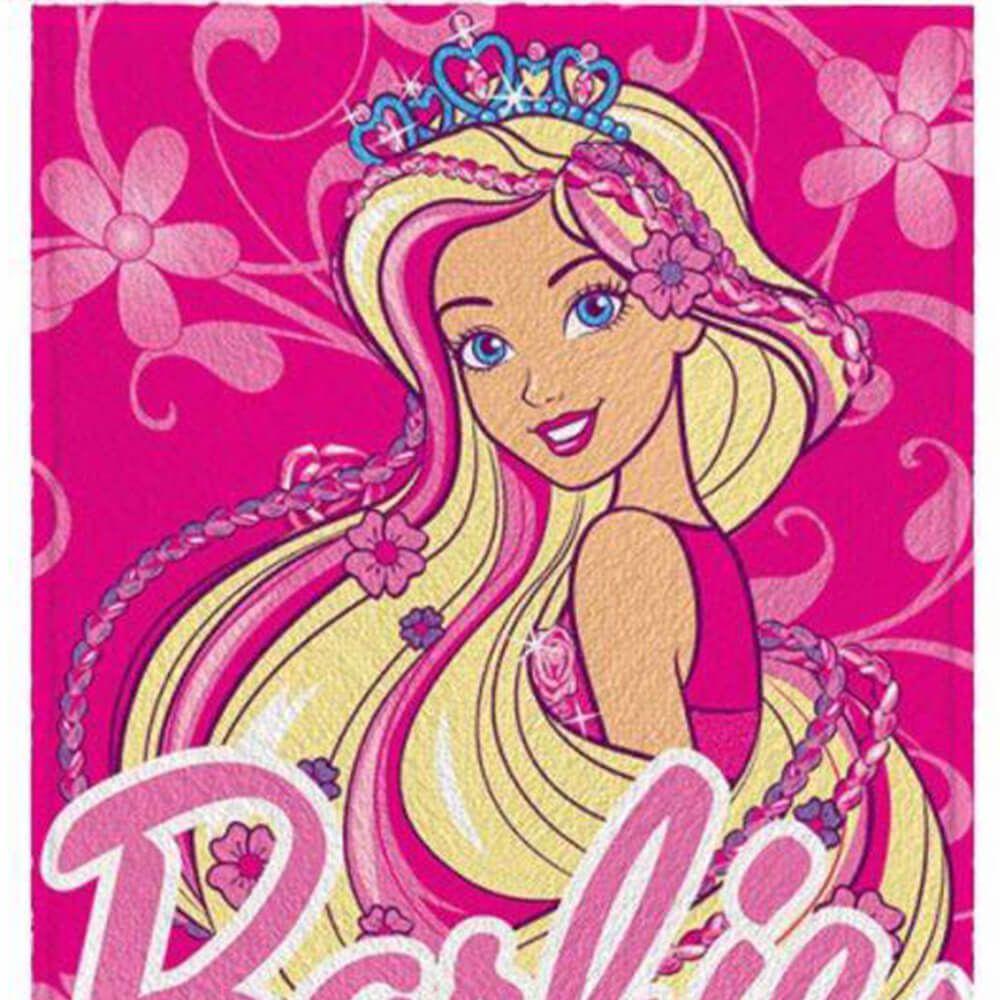 Toalha de Banho Infantil Barbie Long Hair