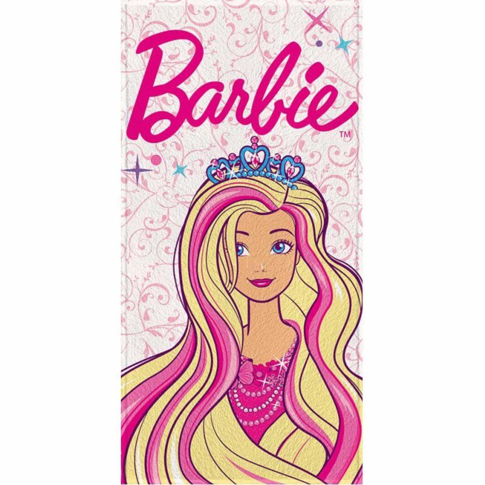 Toalha de Banho Infantil Barbie Princess
