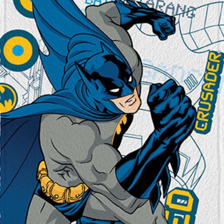Toalha de Banho Infantil Felpuda Batman Caped Crusader