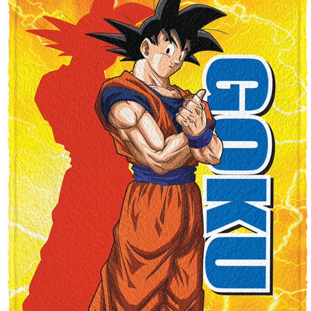 Toalha de Banho Infantil Felpuda Dragon Ball Goku