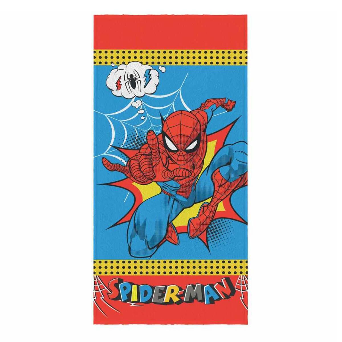 Toalha de Banho Infantil Felpuda Homem Aranha Spider