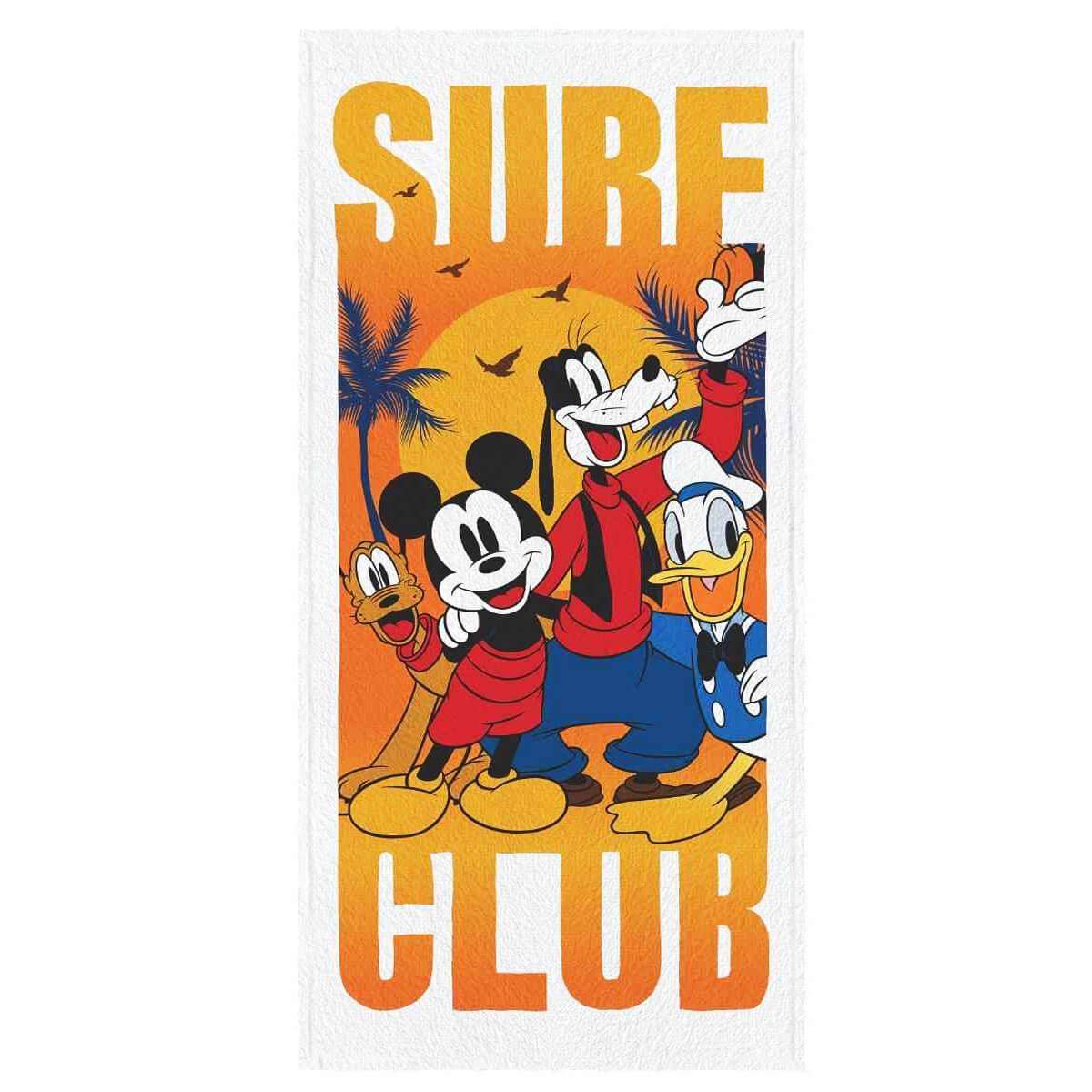 Toalha de Banho Infantil Felpuda Mickey Live to Surf Club