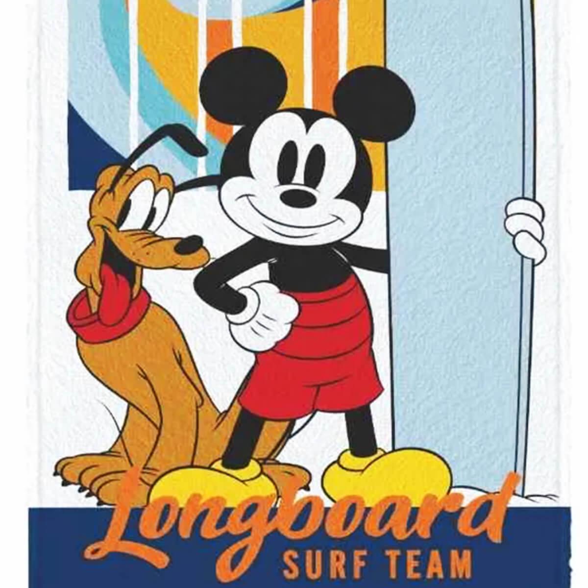 Toalha de Banho Infantil Felpuda Mickey Longboard