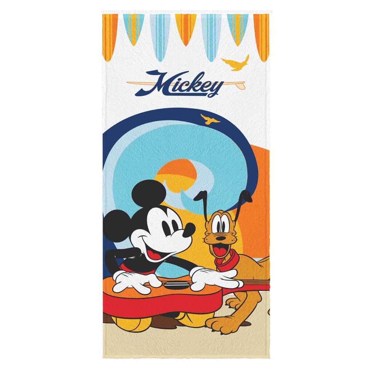 Toalha de Banho Infantil Felpuda Mickey Musica