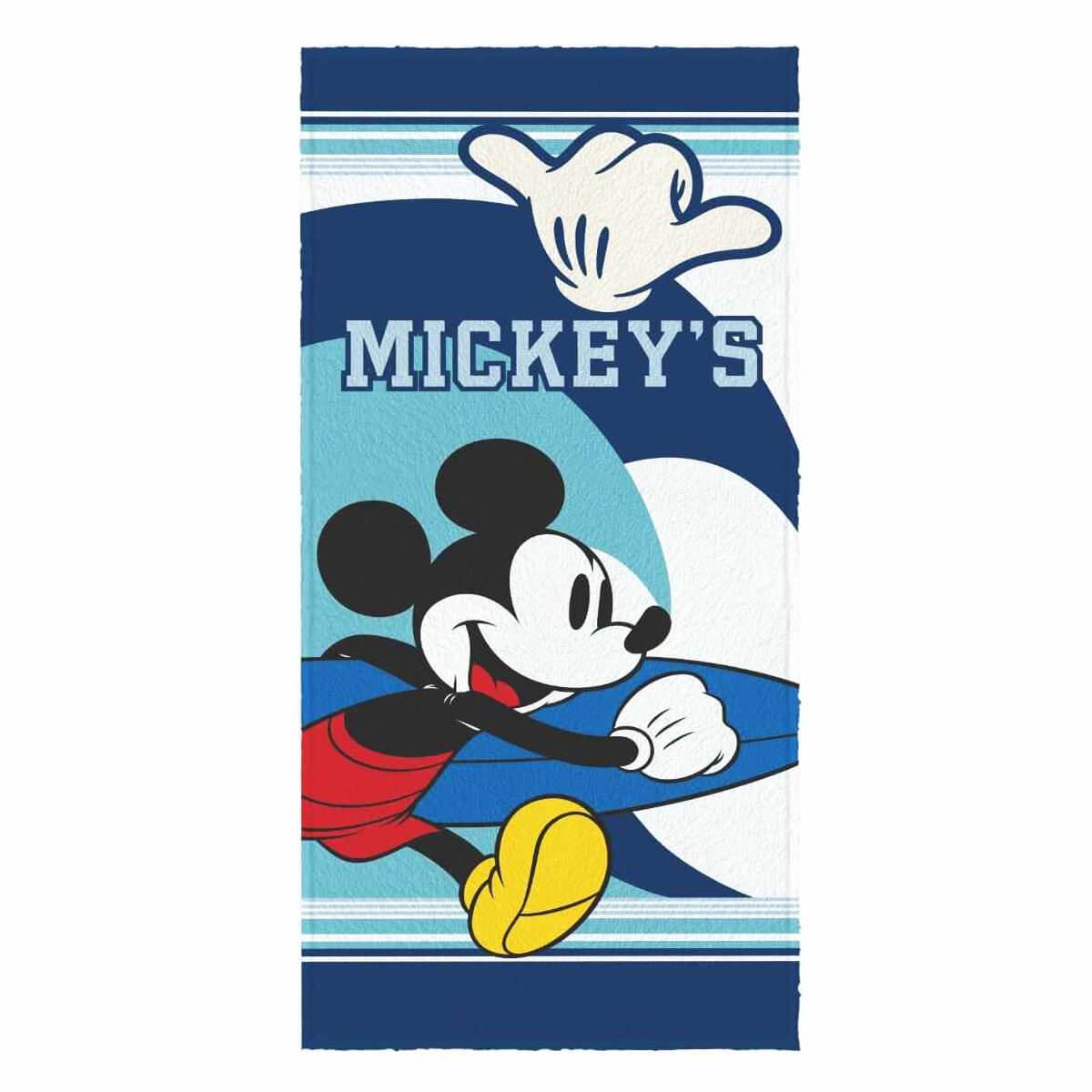 Toalha de Banho Infantil Felpuda Mickey Surf