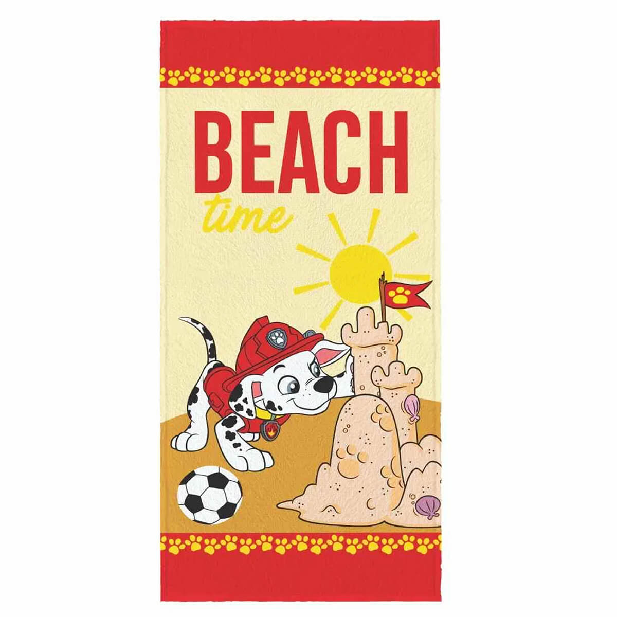 Toalha de Banho Infantil Felpuda Patrulha Canina Beach Time