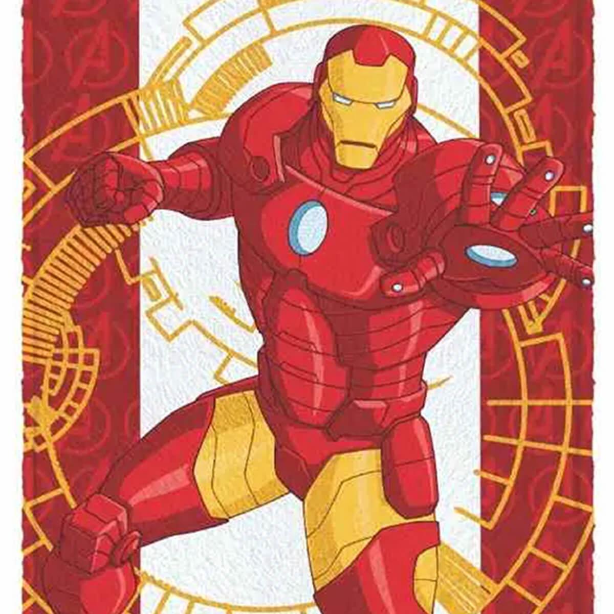 Toalha de Banho Infantil Felpuda Vingadores Iron Man