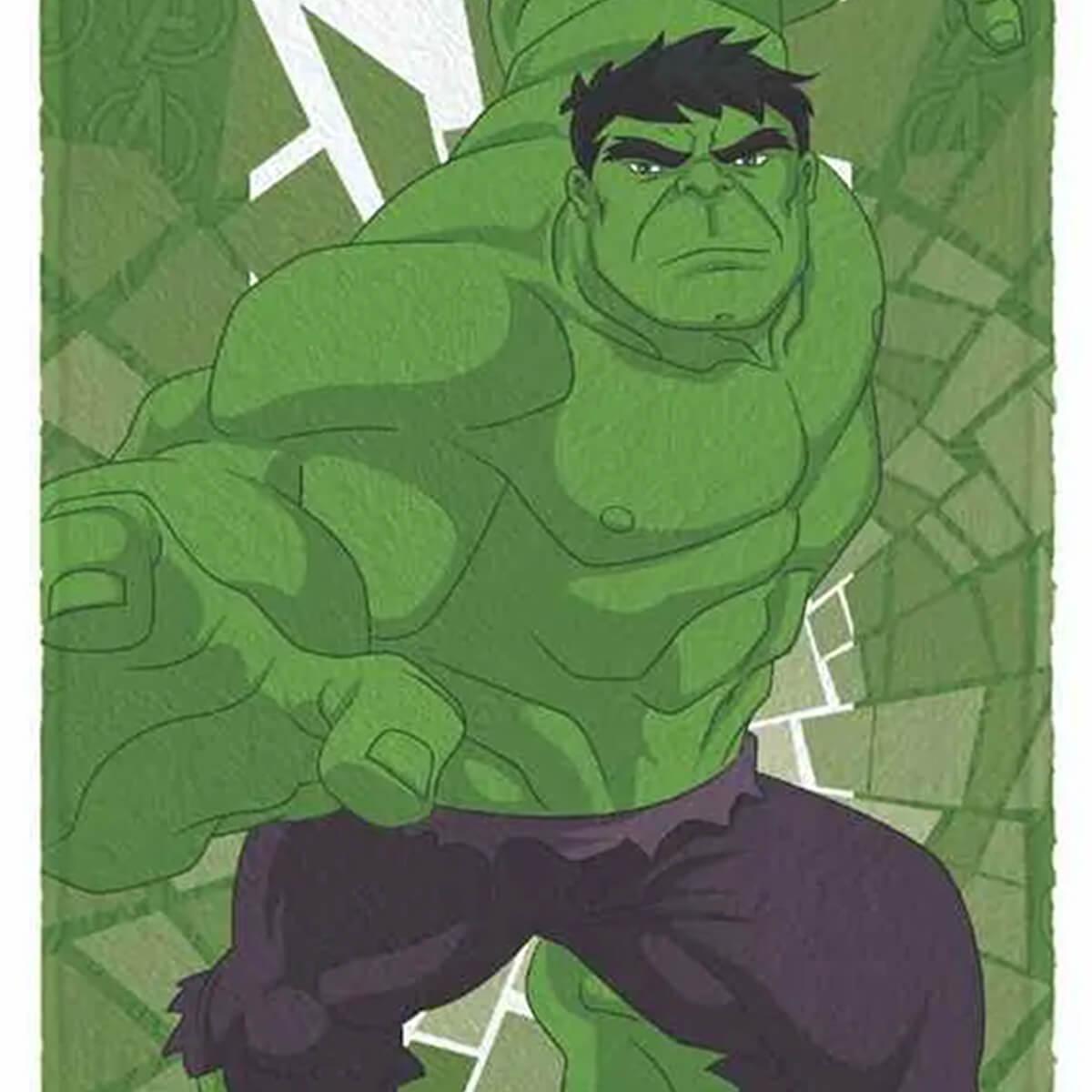 Toalha de Banho Infantil Felpuda Vingadores The Hulk