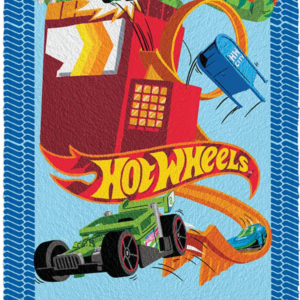 Toalha de Banho Infantil Hot Wheels Adrenalina