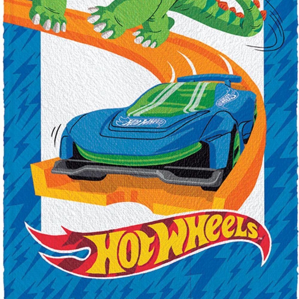 Toalha de Banho Infantil Hot Wheels Race