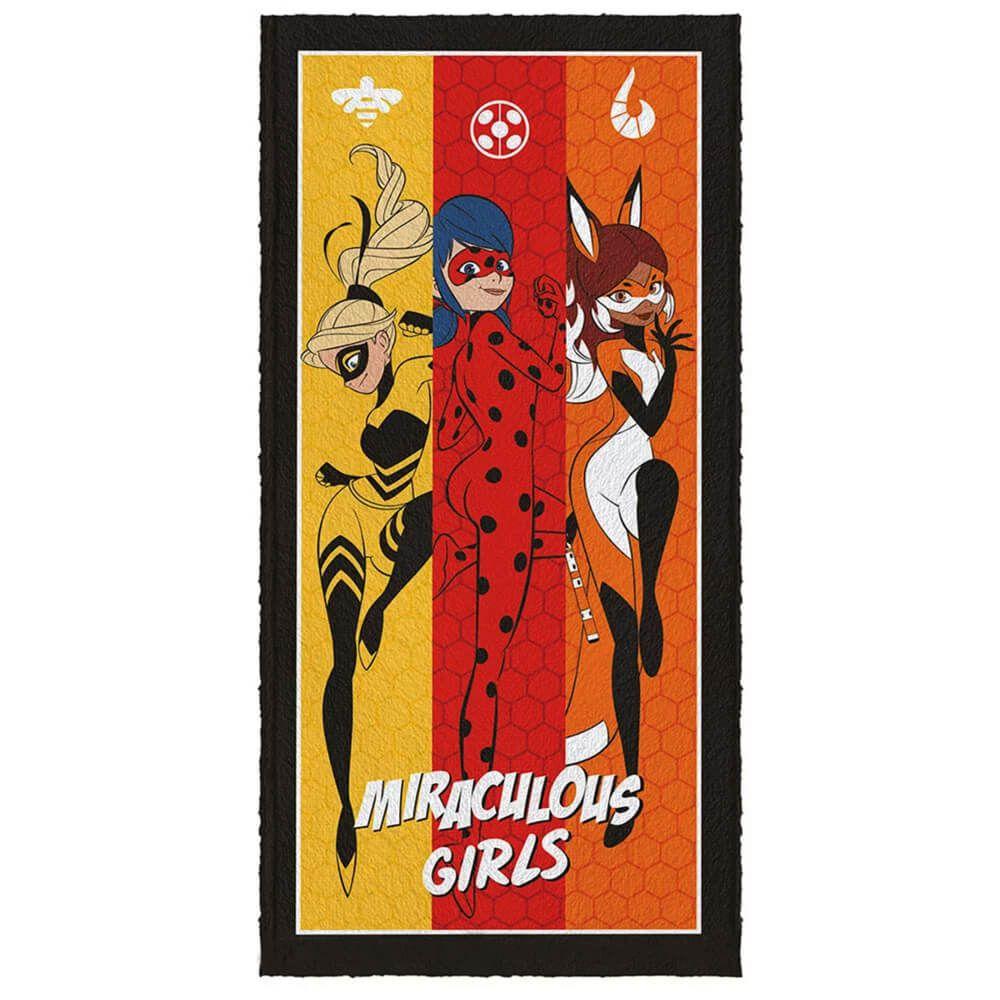 Toalha de Banho Infantil Ladybug Miracolous Girls