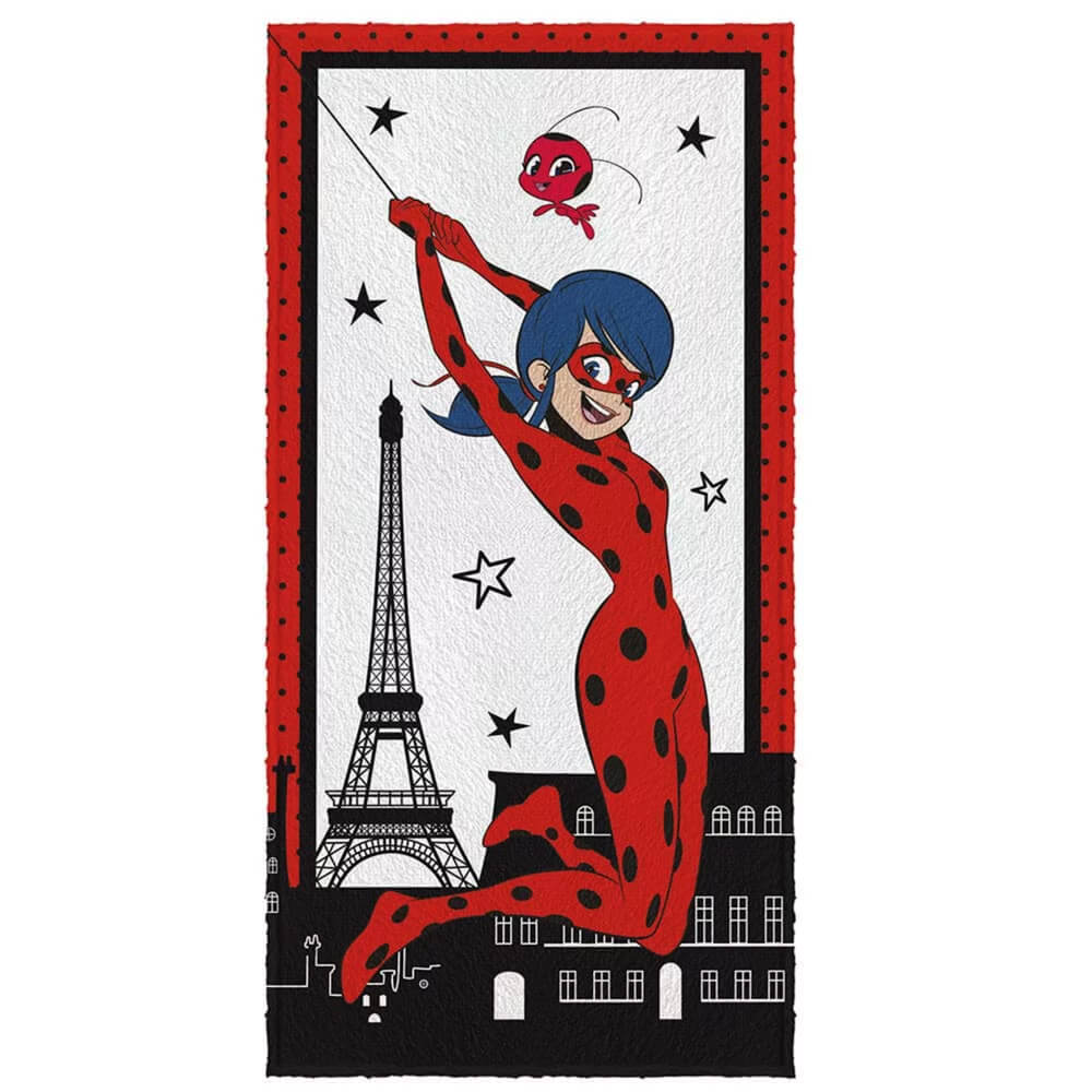 Toalha de Banho Infantil Ladybug Paris