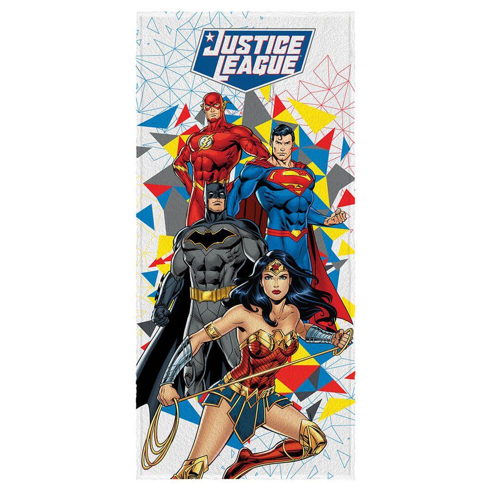 Toalha de Banho Infantil Felpuda Liga da Justiça DC Crises
